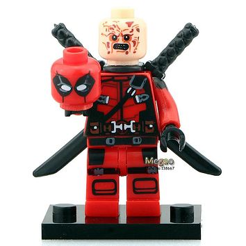 Hot Movie Version PG051 Armed Deadpool Super Heroes Single Sale Avengers Building Block Best Children Toy