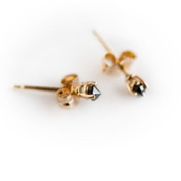 EVERYDAY BLACK DIAMOND STUDS by Blanca Monros Gomez for Of a Kind