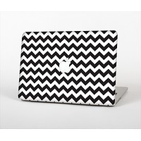 The Black & White Chevron Pattern Skin Set for the Apple MacBook Air 13""
