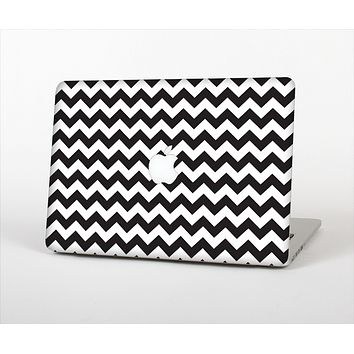 The Black & White Chevron Pattern Skin Set for the Apple MacBook Pro 13""