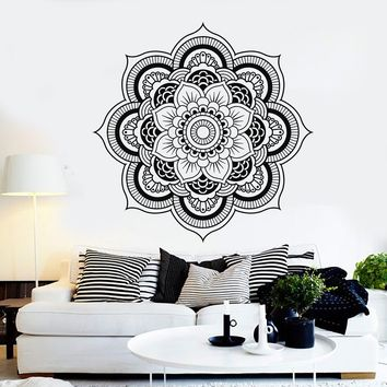 Vinyl Wall Decal Mandala Bedroom Decor Flower Patterns Stickers Mural Unique Gift (119ig)