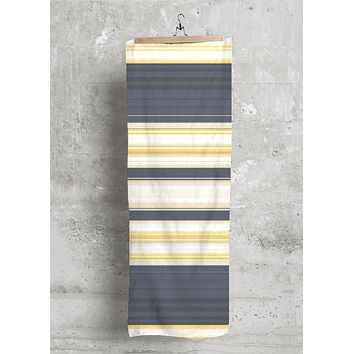 Navy Gold Nautical Stripe