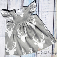 Flutter Sleeve Dress - Oh Deer