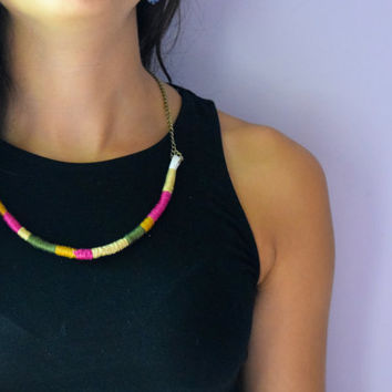 Olive Patch (FREE SHIPPING) Minimalist Rope Necklace
