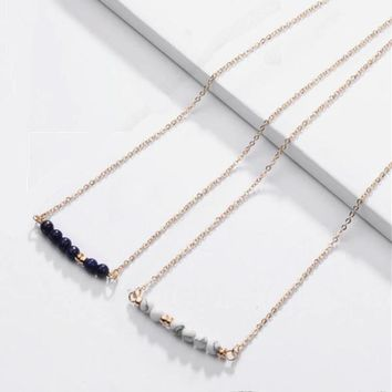 Lally Natural Stone Dainty Necklace