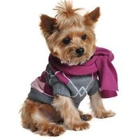 Argyle Purple Dog Sweater
