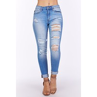 Better Than This Distressed KanCan Jeans (Medium Wash)