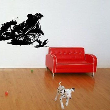 Dirt Bike Motocross Wall Art Sticker Decal bike Stunt M541