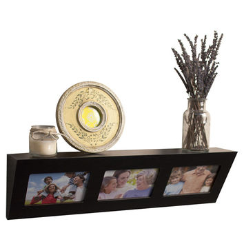DanyaB Decorative Wall Shelf with Built in Frames