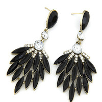 Black Flare Statement Earrings