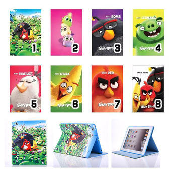 For Funda iPad Mini Case Cute Cartoon Bird Book Flip Stand PU Leather Tablet Cover Case for ipad Mini 3 2 1 with Soft TPU Shell