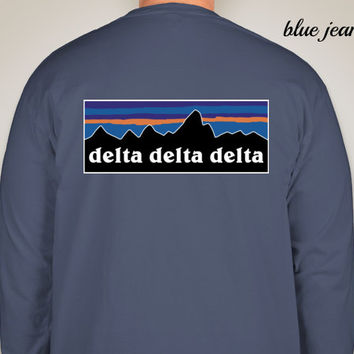 Delta Delta Delta Patagonia Look-Alike Comfort Colors (Long Sleeve)