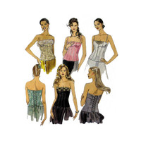 "Lined Bustiers in 5 Styles McCall's 2799 Misses' Plus Size 16, 18, 20 Bust 38, 40, 42"" Sewing Pattern Uncut"