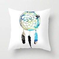 Catching Dreams Throw Pillow by Kelly Stahley Designs