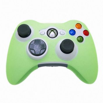 Glow in Dark Game Controller Cases Anti-Slip Silicone Gamepad Case Skin Protector Cover for Xbox 360