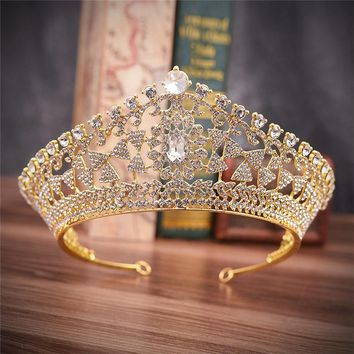 Pageant Wedding Crown Flower Tiaras Princess Hair Jewelry Accessories Prom Bridal Crown Queen