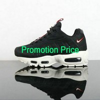 Really Cheap Unisex Nike Air Max 95 TT PRM Black Sail-Gym Red AJ1844-002 Authentic shoe