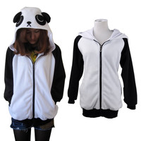 JP Anime Ears Face Tail Zip Hoody Sweatshirt Hoodies Costume cosplay coat Jacket