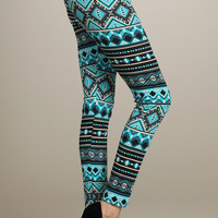 AZTEC BORDER PRINT LEGGINGS