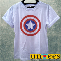 Low Price Women's Adult T-Shirt - Captain America Shield Logo design