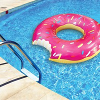 The Gigantic Donut Pool Float - Strawberry Frosted