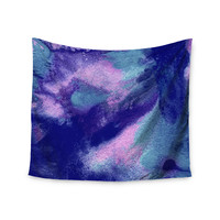 "Ashley Rice ""AC4"" Abstract Blue Wall Tapestry"