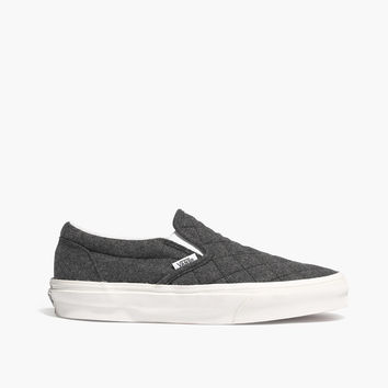Madewell & Vans® Classic Slip-Ons in Quilted Flannel