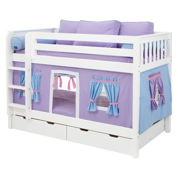 Hot Shot Girl Twin over Twin Tent Bunk Bed | www.hayneedle.com