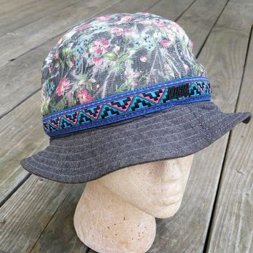 Official Mens Womens Bucket Hat Floral Summer Trendy Large / XL Beach