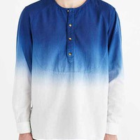 Koto Dip-Dyed Collarless Popover Shirt