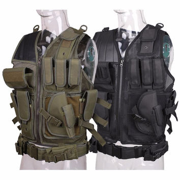 Military Tactical Vest Army Body Armor Swat Combat Vest for Men