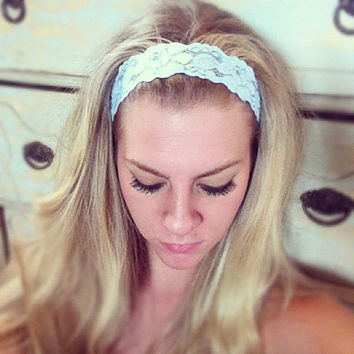Baby Blue - Thin Lace Headband