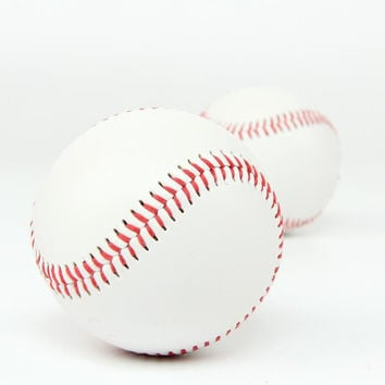 "Free Shipping 1 Piece 2.75"" New White Base Ball Baseball Practice Trainning Softball Sport Team Game"