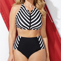 High Waist Print Swim Suit (S - 4XL)
