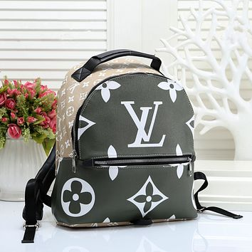 Louis Vuitton LV Woman Fashion Leather Travel Bookbag Shoulder Bag Backpack