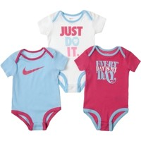 Nike Newborn Girls' Every Day Is My Day Bodysuit Set - 3 Pack
