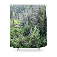 Society6 Forest Shower Curtain