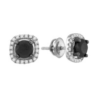 Diamond Fashion Earrings in 10k White Gold 1.88 ctw