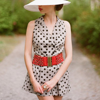 sweet allie polka dot romper - $36.99 : ShopRuche.com, Vintage Inspired Clothing, Affordable Clothes, Eco friendly Fashion