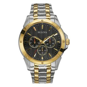 Bulova Classic Men's 43mm Multi-Dial Dress Watch in Two-Tone Stainless Steel