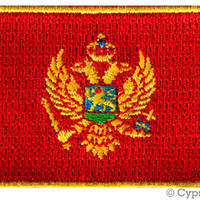 MONTENEGRO FLAG PATCH iron-on embroidered applique Top Quality