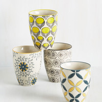 How You Brewin'? Cup Set | Mod Retro Vintage Kitchen | ModCloth.com