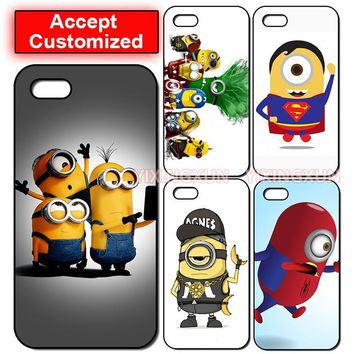 Minion Case Cover for Apple iPhone 5 5S SE 6 6S 7 8 Plus X XS Max XR Samsung Galaxy Note 8 9 S6 S7 S8 S9 Edge Plus