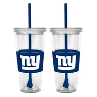 New York Giants 2-pc. Double-Walled Straw Tumbler Set (Gia Team)