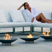 Bioethanol outdoor fireplace BRASERO by GANDIA BLASCO | design José Antonio Gandía-Blasco