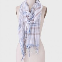 By The Lake Plaid Scarf