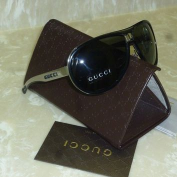 Brand new Authentic GUCCI GG 1566/S REE95 AVIATOR sunglasses Grey Lenses