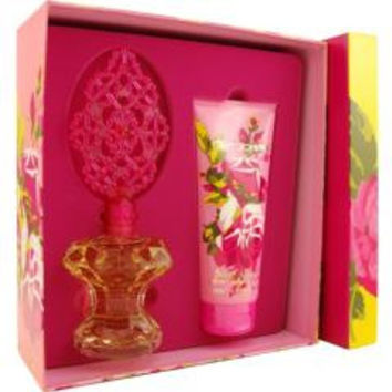 BETSEY JOHNSON EAU DE PARFUM SPRAY 3.4 OZ & BODY LOTION 6.7 OZ