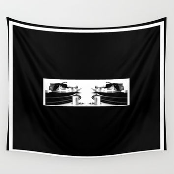 Stereo Sound Wall Tapestry by Derek Delacroix