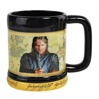 The Lord of the Rings Aragorn Mug with One Ring Base |